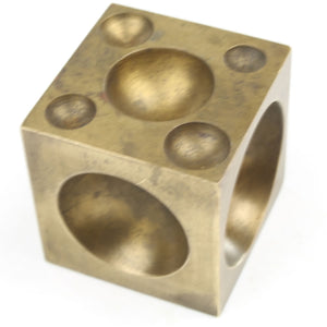 Jewellers Brass Doming Block