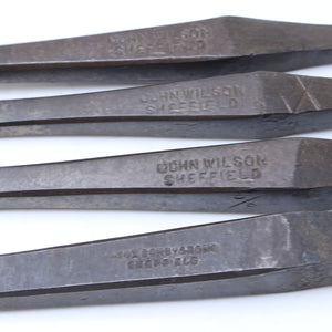 4 Old John Wilson Drill Bits - OldTools.co.uk