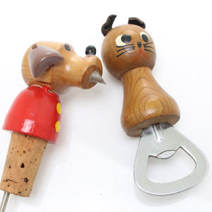 Cat and Dog Bottle Opener and Pourer - OldTools.co.uk