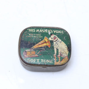 Gramophone Soft Tone Needles and Vintage Tin - OldTools.co.uk