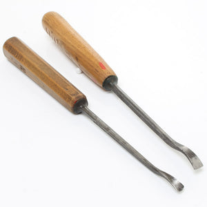 2 Herring Bros Back Bent Gouges - OldTools.co.uk