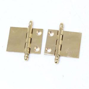 10x Brass Hinges - OldTools.co.uk