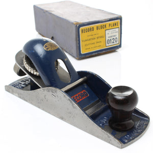 SOLD - Record Block Plane no. 0120 - ENGLAND, WALES, SCOTLAND ONLY