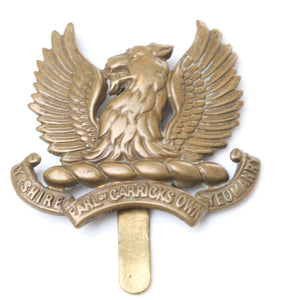 Ayrshire Earl Of Carricks Own Yeomanry Cap Badge