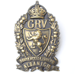 Large GRV South Africa 1900-1902 Cap Badge