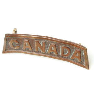 Two Old Canada Badges (Pair)