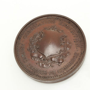 Coronation Exhibition Commerce Medallion 1911 - OldTools.co.uk