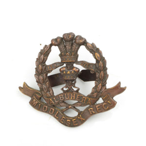 Middlesex Regt. Officers Bronze Cap Badge