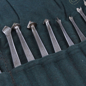 24 Vintage Drill Bits mainly by F.Willey - OldTools.co.uk