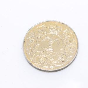 Elizabeth II DG Reg FD Coin 1977 - OldTools.co.uk