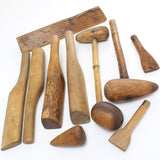 11 Boxwood, Lignum and Beech Leadworkers Tools