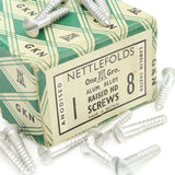 "31 Nettlefolds Aluminium Alloy Raised Head Screws – 1"" x 8 - OldTools.co.uk"