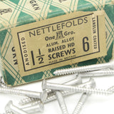 "32 Nettlefolds Aluminium Alloy Raised Head Screws – 1 1/2"" x 6 - OldTools.co.uk"