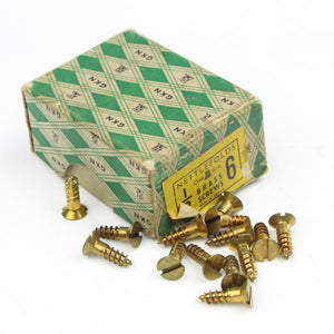 "26 Nettlefolds CSK Brass Screws – 1/2"" x 6 - OldTools.co.uk"