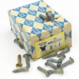 "44 x Nettlefolds C'Sunk Brass Screws – 3/4"" x 8 - OldTools.co.uk"