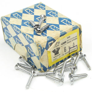 "23 x Nettlefolds Barrel Chrome Brass Screws – 3/4"" x 6 - OldTools.co.uk"