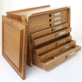 Dovetailed Oak Tool Chest – 9 draw