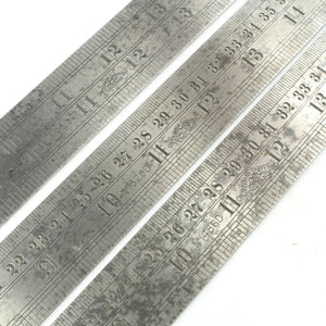 "3x 24"" Chesterman Contraction Rules - No. 1291D, 1320D, 1486D - OldTools.co.uk"