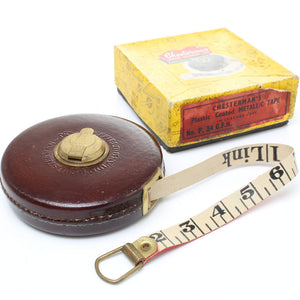 Chesterman Leather Cased Tape Measure – 50ft