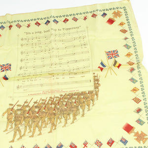 WW1 Silk It's a long Way to Tipperary Handkerchief