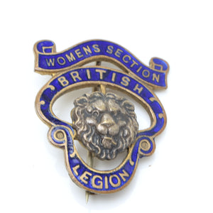 Womens Section British Legion Badge