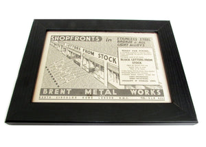 1950's Framed Shopfront Letters Picture - Size: A5 - OldTools.co.uk