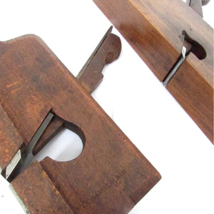 2x Wooden Coachmakers Rebate Planes - OldTools.co.uk