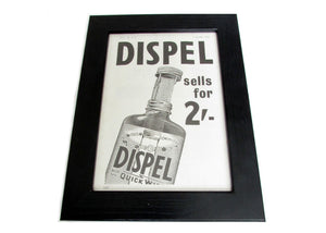 1950's Framed Dispel Picture - Size: A5 - OldTools.co.uk
