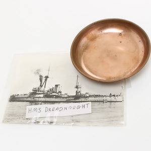 HMS Dreadnought Pin Tray and Postcard - OldTools.co.uk