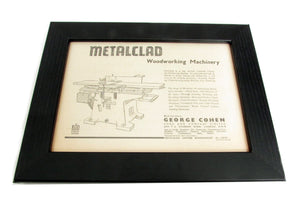 1950's Framed Metalclad Picture - Size: A5 - OldTools.co.uk