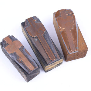 3 Marking Gauge Printing Blocks - OldTools.co.uk
