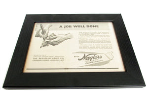 1950's Framed Job Well Done Picture - Size: A5 - OldTools.co.uk