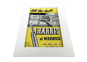 1950's Framed Harris Tools Picture - Size: A5 - OldTools.co.uk