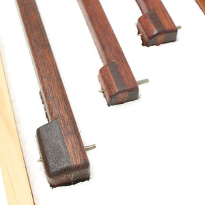 3 Mahogany Panel Gauges