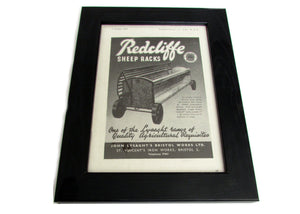 1950's Framed Redcliffe Sheep Rack Picture - Size: A5 - OldTools.co.uk