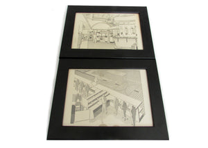 1950's Framed Showroom Diagram Pictures - Size: A5 - OldTools.co.uk