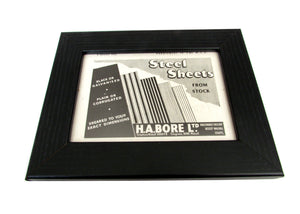 1950's Framed Steel Sheets Picture - Size: A6 - OldTools.co.uk