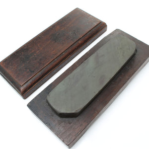 Natural Sharpening Stone Boxed (Mahogany)