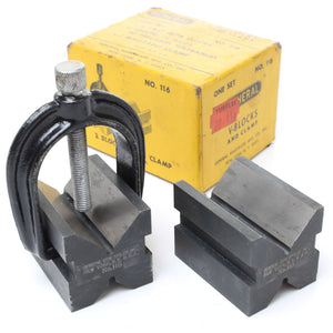 USA Vee Blocks and Clamp No. 116