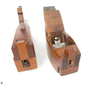 2x Wooden Compass Planes - OldTools.co.uk