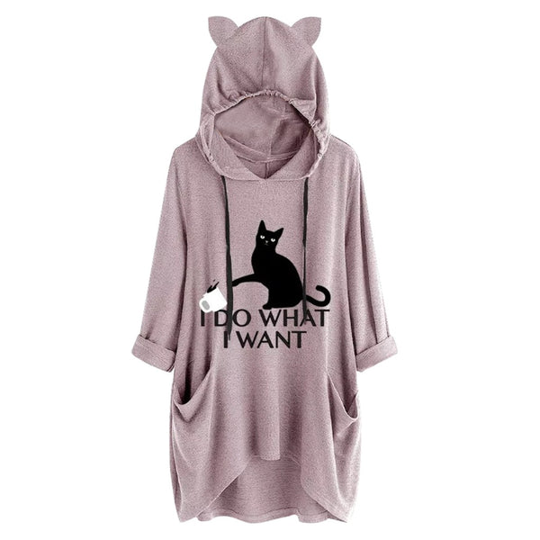 I Do What I Want Lounge Hoodie - Catsup Cat Co