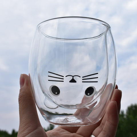 Bottoms Up Drinking Glass - Catsup Cat Co