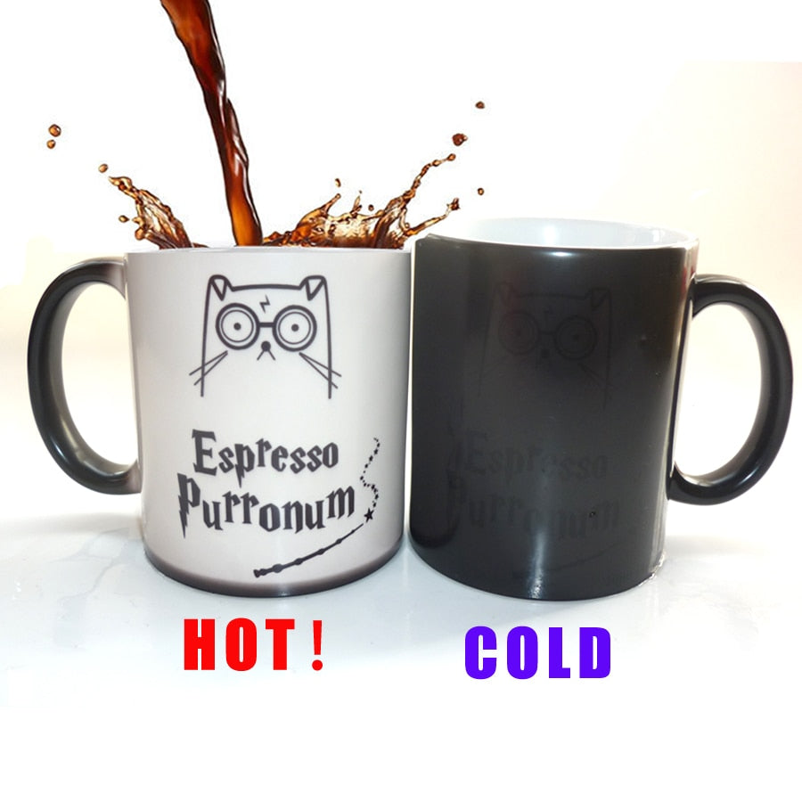 Espresso Purronum Color Changing Mug - Catsup Cat Co