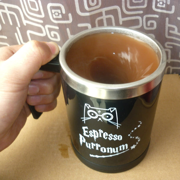 Espresso Purronum Self Stirring Mug - Catsup Cat Co