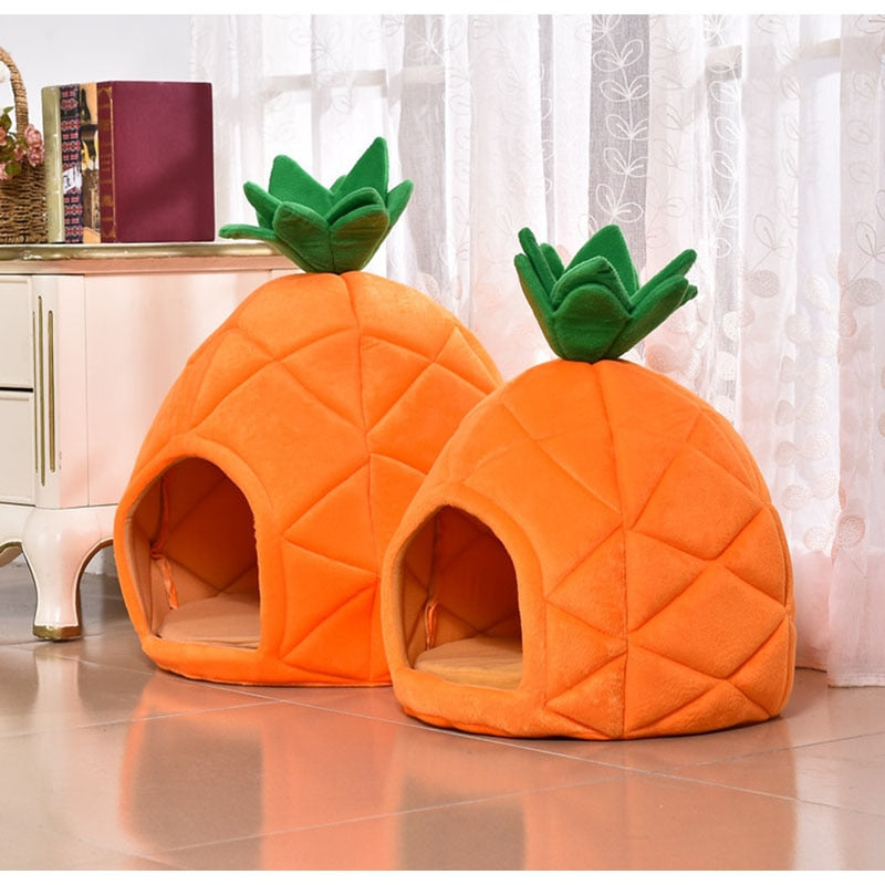 Pineapple Under the Sea Cat Bed - Catsup Cat Co