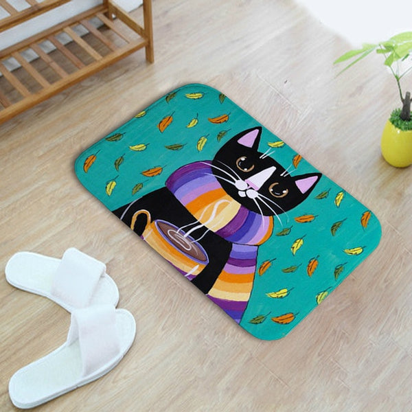 Coffee Cat Non-Slip Mat - Catsup Cat Co