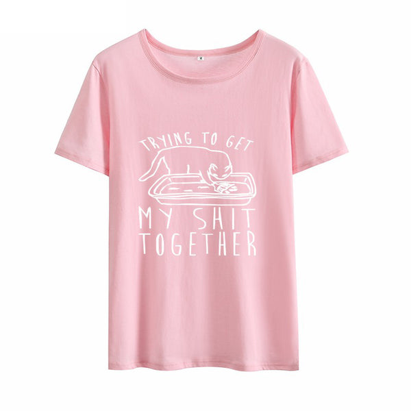 Trying To Get My Shit Together Tee - Catsup Cat Co