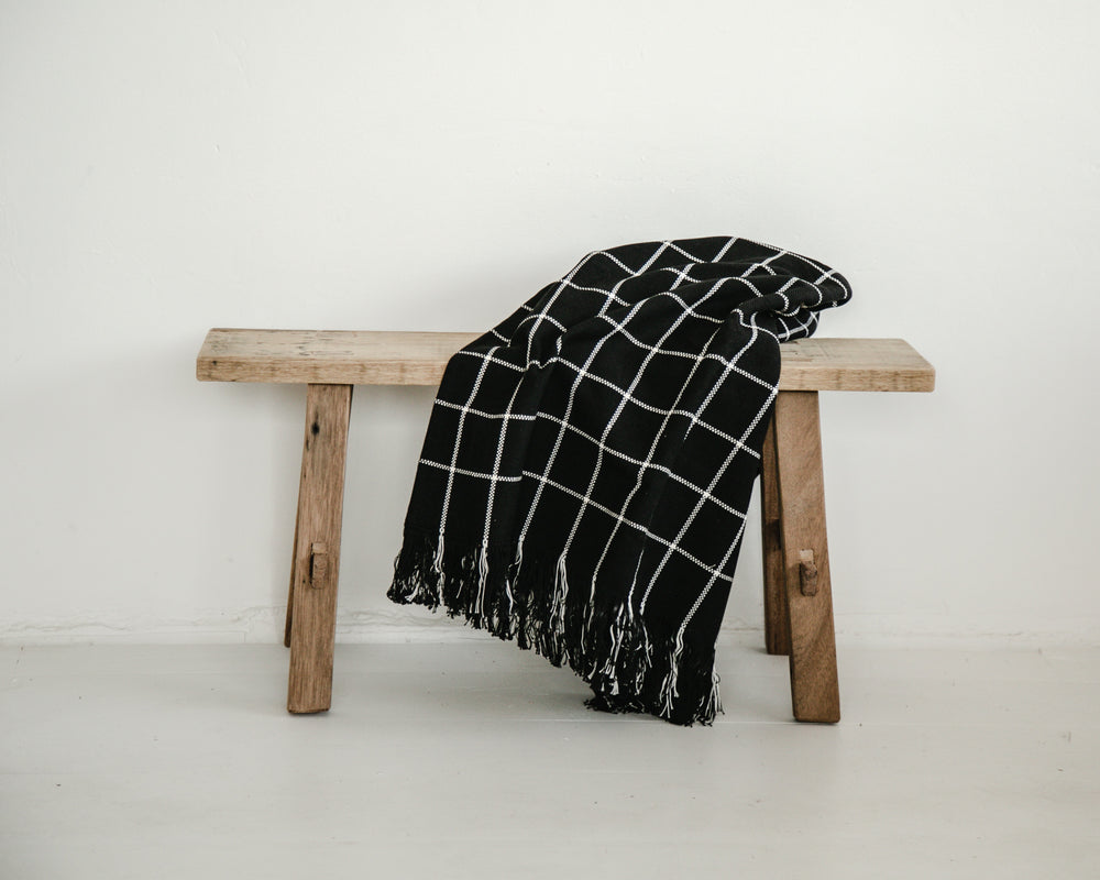 SLEEP TIGHT THROW | BLACK CHECK
