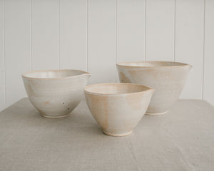 NESTED POURING BOWL SET | PARCHMENT