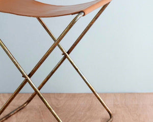 BROSTE | NOLA LEATHER STOOL